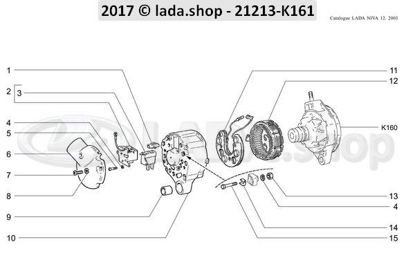 LADA 0000-1000445211, Bolt M4X25