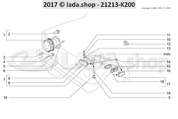 LADA 21213-3711010, Headlamp unit