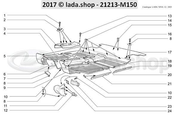 LADA 21213-5109014-10, Tapijt. RH