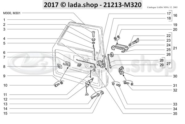 LADA 2121-6105162, driver koppeling