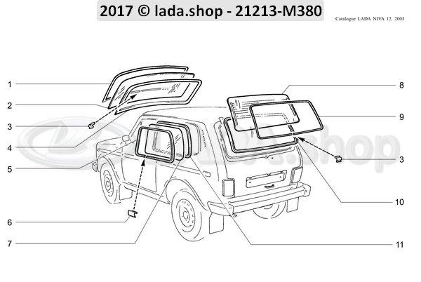 LADA 2121-5403122, Venster slot seal