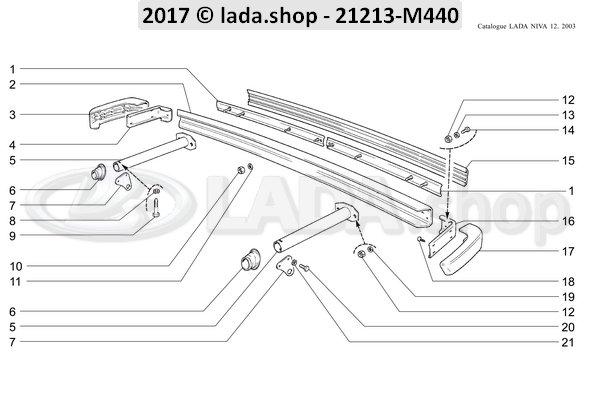 LADA 2121-2804152-10, Side afdekplaat. RH