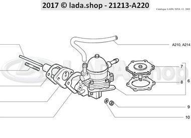 N3 Pompe à carburant et ses fixations CARB