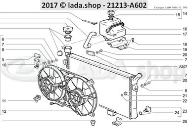 N3 Radiator en expansie tank MPFI