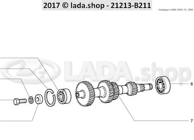N3 Gearbox intermediate shaft