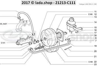N3 Hauptteile des Bremsantriebs RHD BB2103