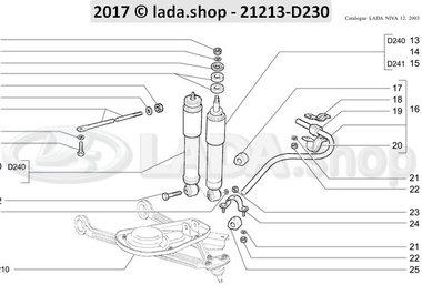 N3 Amortiguadores y barra estabilizadora trasversal