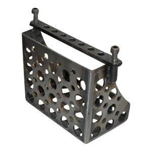 Accubak voor custom motor met Speedholes - Staal