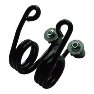 Haarspeld Motor Zadel Veren Zwart 2 inch met Bevestigingskit