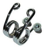 Hairpin Motor Seat Springs Chrome 3 inch with fastening kit