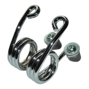 Hairpin Motorcycle Seat Springs Chrome 3 inch with fastening kit