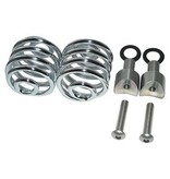 "Motorcycle Seat Spring chrome 2"" with mounting set"