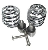 """Motorcycle Seat Spring chrome 2"""" with mounting set"""