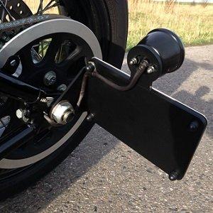 Side Mount Kennzeichenhalter mit LED STOP Rücklicht für Motorrad