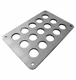 Kennzeichenhalter zur seitlichen Montage - Stahl