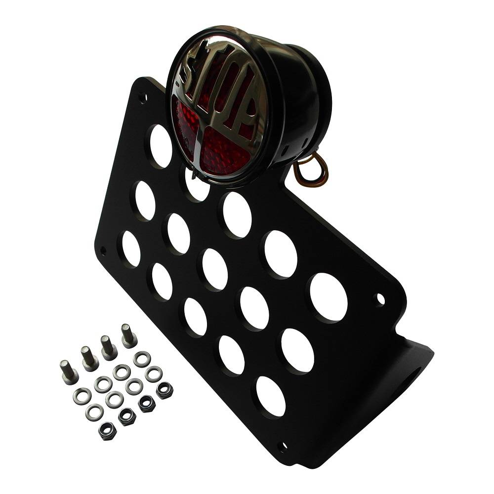 Side Mount  licence plate holder with LED STOP tail light for motorcycle