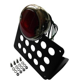 Side Mount license plate holder with Moon 33-36 Ford tail light