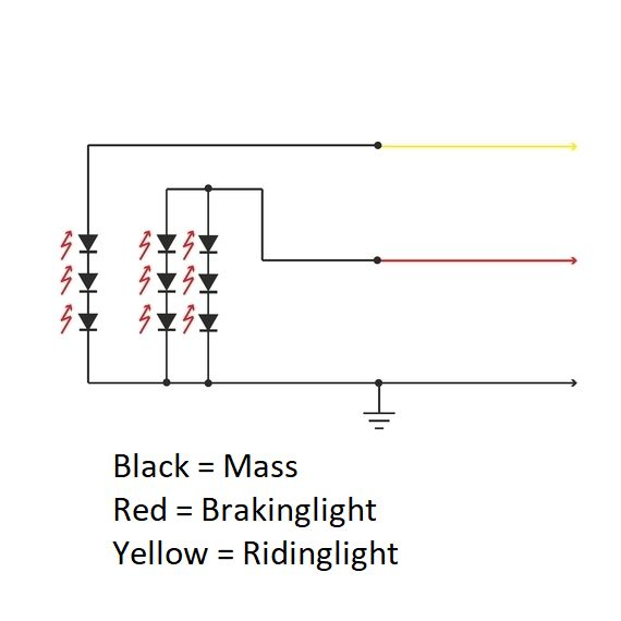 LED Rear Light Retro