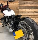 Kennzeichenhalter zur Seitenmontage  für Motorrad mit LED-Kennzeichenleuchte