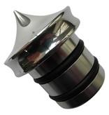 Oil Tank cap - for Harley Davidson - Polished - No dipstick