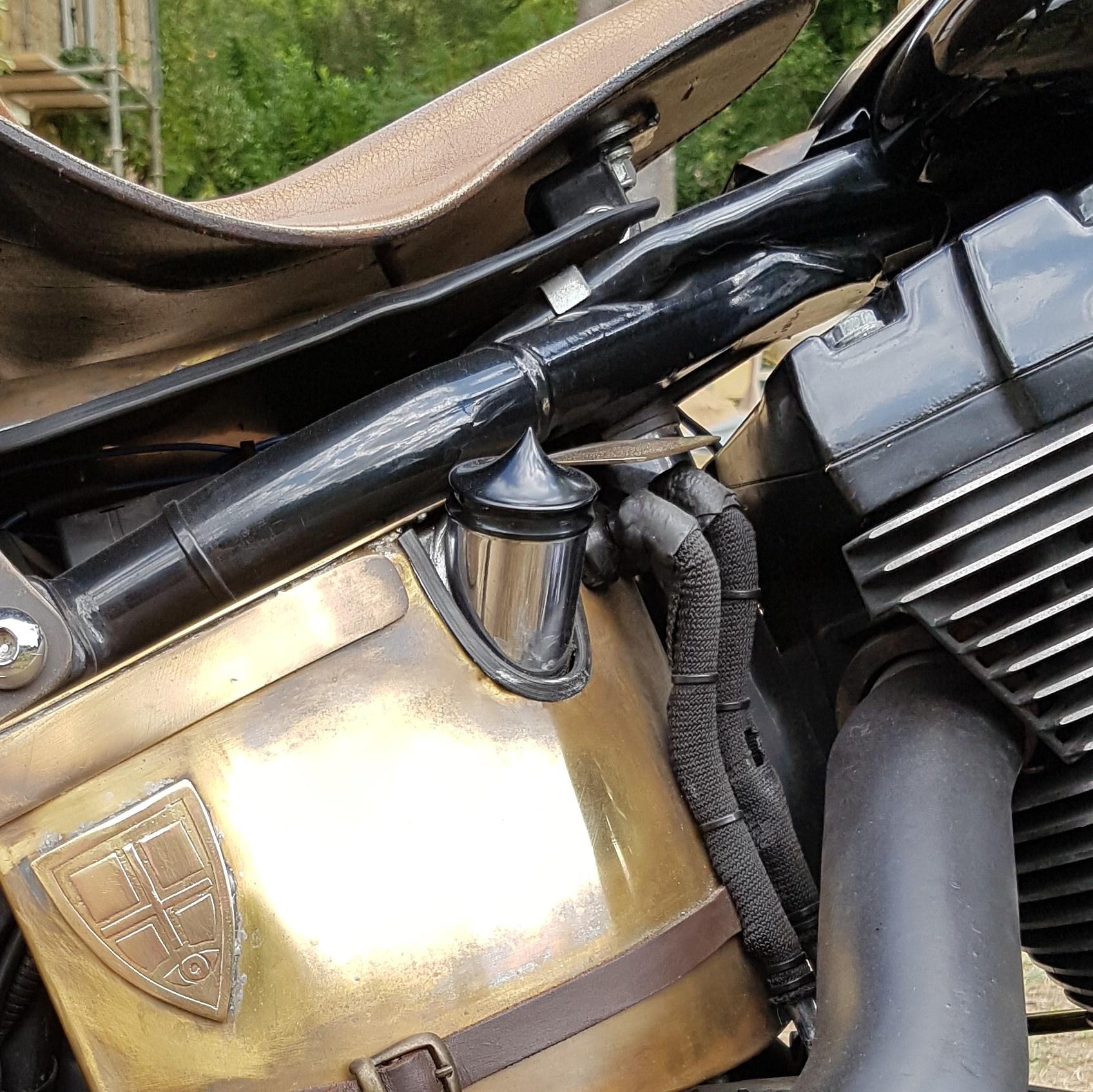 Olie Tankdop - voor Harley Davidson - Zwart - Geen peilstok
