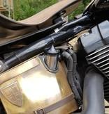 Öl Tankdeckel - für Harley Davidson - Schwarz