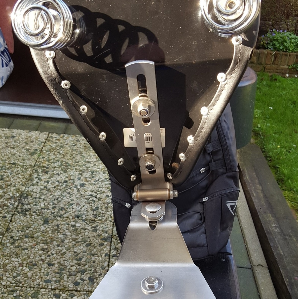 Motor Zadel Scharnier voor solo motorfiets zadel - gemaakt van RVS