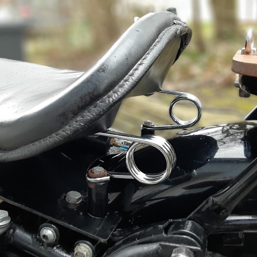 Haarspeld Motor Zadel Veren Chroom 2 inch