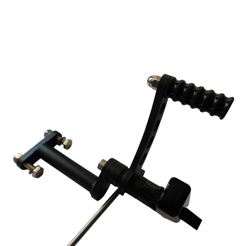 Zwarte Forward Controls voor Sportster bouwjaar 1986-2003