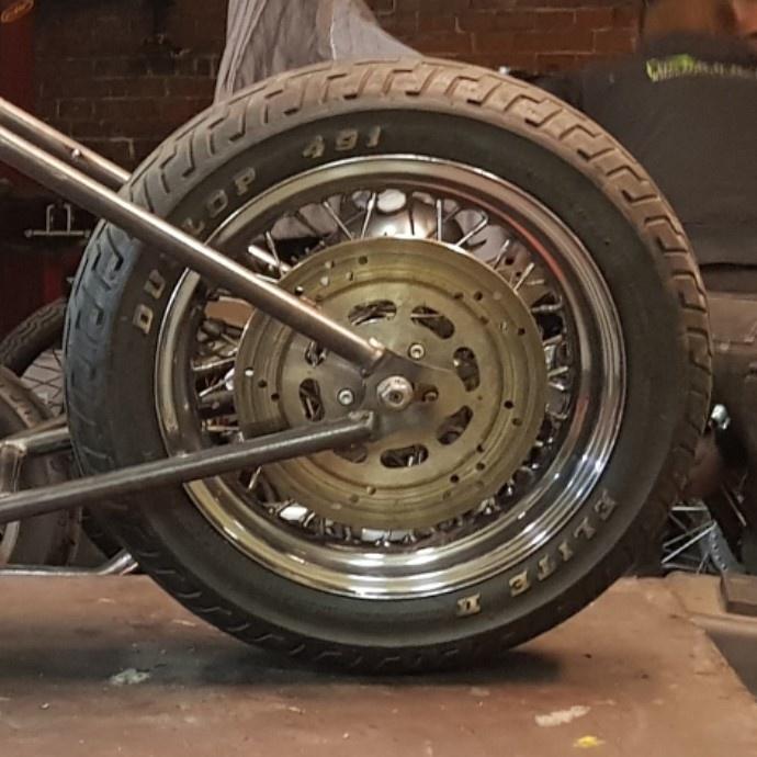 Achteras stalen schetsplaten voor hardtail motorfiets - Set van 2 platen