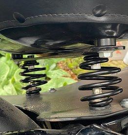Motorfiets Spiraal Veren Zwart 3 inch