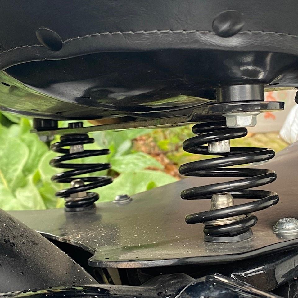 Motorrad Sitz-Federn Schwarz 3 Zoll