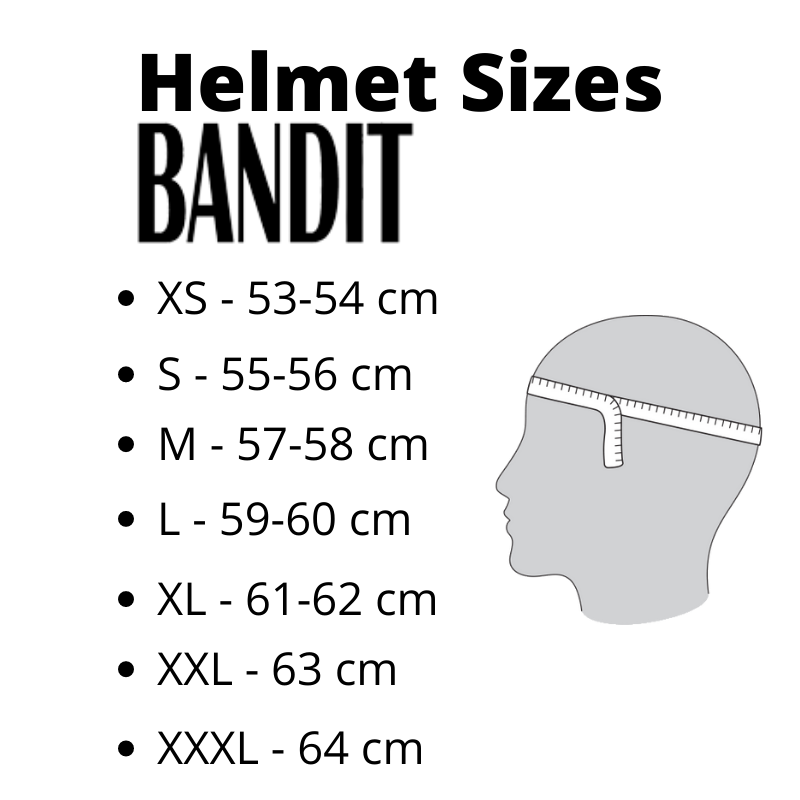 Helmet Sizes Bandit - Kollies Parts