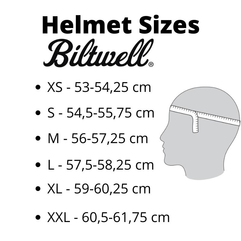 Helmet Sizes Biltwell - Kollies Parts