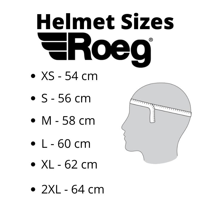 Helmet Sizes Roeg - Kollies Parts