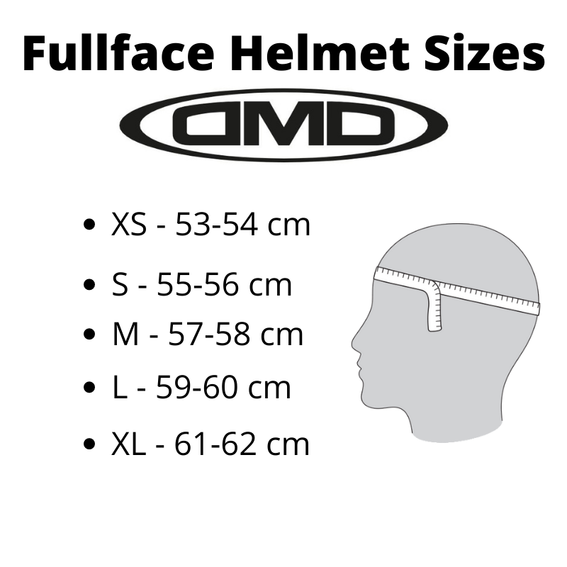 Helmet Sizes Fullface DMD - Kollies Parts
