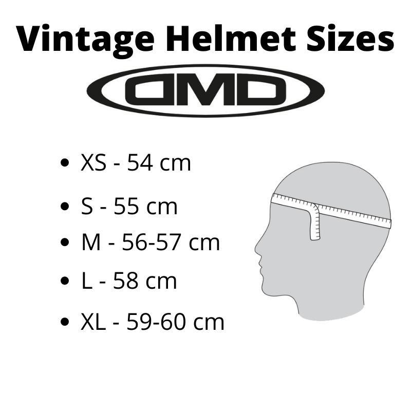 Helmet Sizes Vintage DMD - Kollies Parts