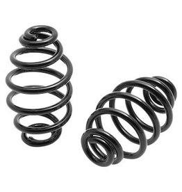 Motorcycle Spiral Springs Black 4 inch