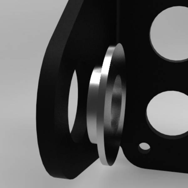 Seitenmontage Spacer 3/4 (19mm) - für Kennzeichenhalter von Kollies Parts