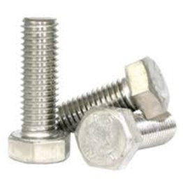 Hexagon bolt stainless steel 1/4 UNC - 20 x 1 inch