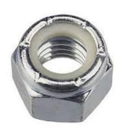 Self locking stainless steel Nut 1/4 UNF - 28