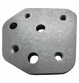 Montageplatte für einen ständer / jiffy eines Harley Davidson Shovelhead