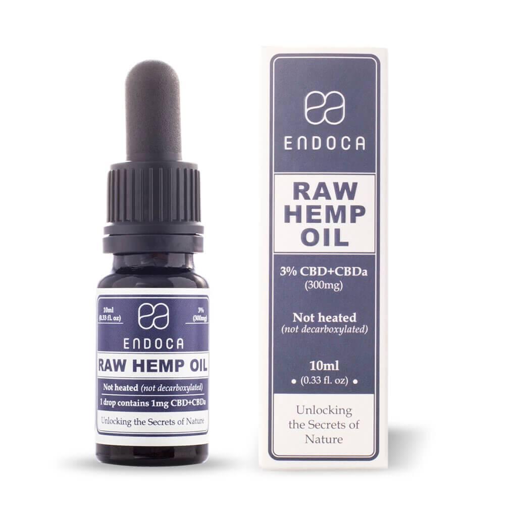 Endoca - Hemp Oil RAW 10Ml 3% Cbd
