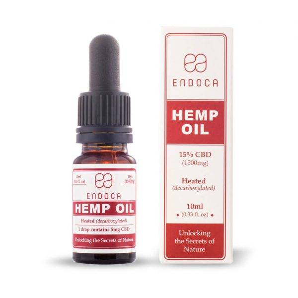 Endoca - Hemp Oil 10Ml 15% Cbd