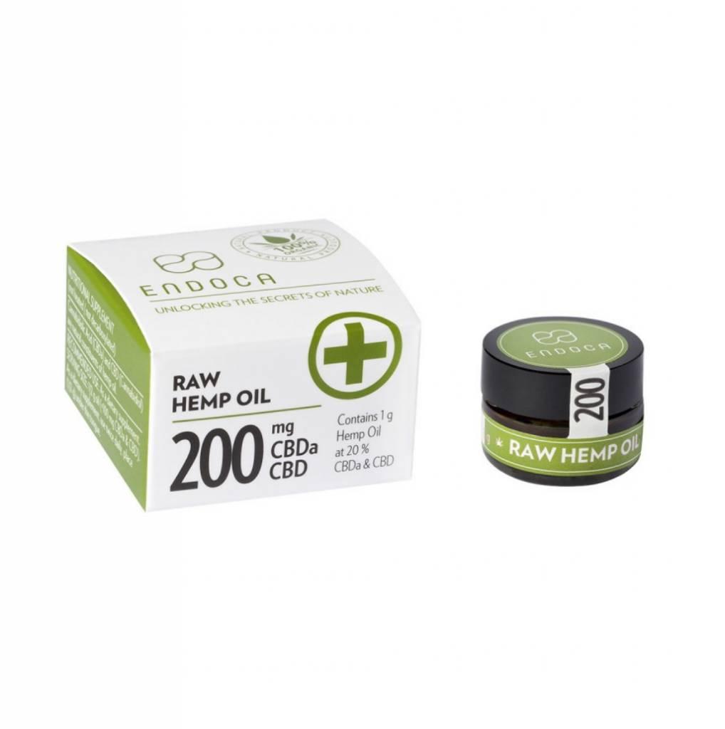 Endoca Hemp Oil Paste 1 Gram 20% Raw Cbd
