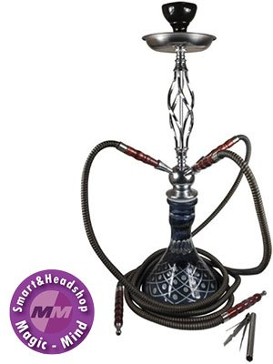 Sahbi Sahbi Shisha Black 64cm, three hoses