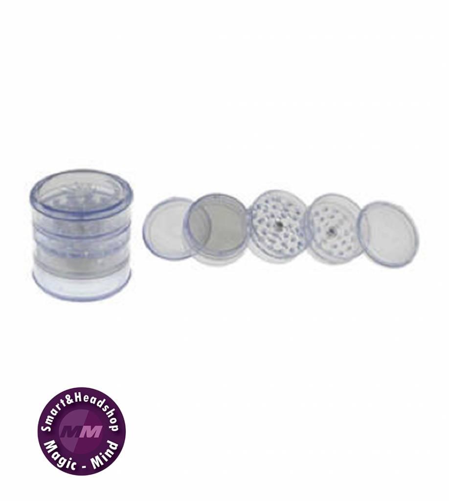 Grinder Plastic Clear (Ø60mm, 5 parts)