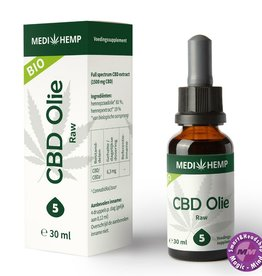 Medihemp CBD olie RAW 5% 30ml