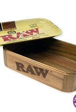 Raw RAW Wooden Cache Box With Tray Lid 27.5 x 17.5 x 7 cm
