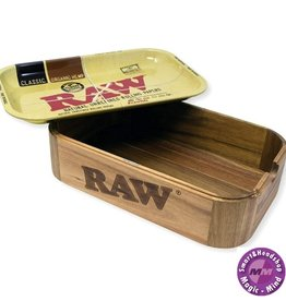 Raw RAW Wooden Cache Box With Tray Lid